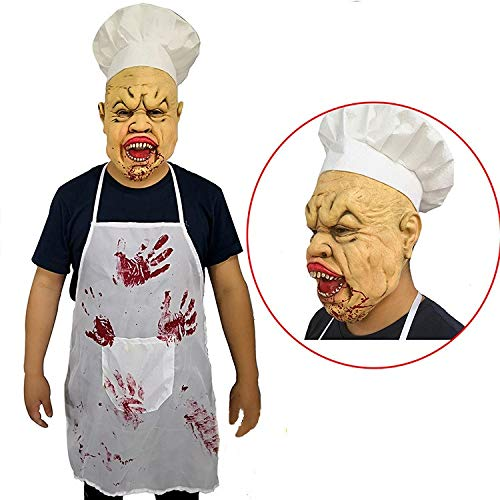 Lustige Chefkoch Erwachsenen Kostüm - YFQH Latex Maske Gruselig Chefkoch Masken