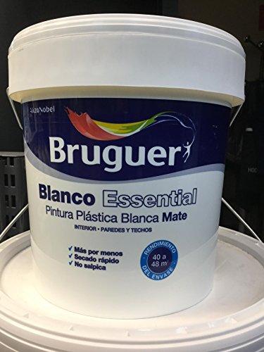 BURGUER BLANCO ESSENTIAL 4L PINTURA PLASTICA BLANCA MATE INTERIOR PAREDES Y TECHOS