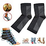 Dr. Sock Beruhigungssocken Anti Fatigue Compression Fuß Sleeve Support Brace Sock für Plantar Fasciitis Achilles Knöchel Anti Fatigue (3 Paare) (L/XL)