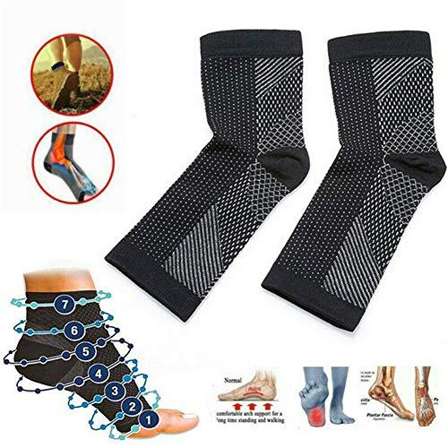 Dr Sock Beruhigungssocken Anti Fatigue Compression Fuß Sleeve Support Brace Socke für Plantarfasciitis Achilles Knöchel Anti Fatigue (3 STÜCKE) (S/M) -