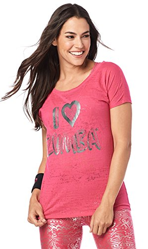 Zumba Fitness I Love Zumba Hi Lo Hem Tee Berry L (Tee Hem Hi-lo)