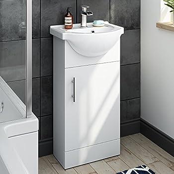 vanity unit basin sink minimalist compact slimline 400mm. Black Bedroom Furniture Sets. Home Design Ideas