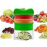 Meilleures ventes haut de gamme de légumes Spiralizer Spiral Slicer avec 3 lames différentes Coupe-légumes Julienne Slicer Moulin de la carotte, concombre, pomme de terre...