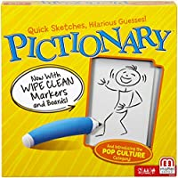 Mattel Games Pictionary Quick-draw Guessing Game, Adult and Junior Clues