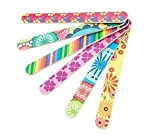 TOPWEL 10Pcs Professional Colorful Double Sided Nail Files Cosmetic Manicure Pedicure Nail Files by TOPWEL