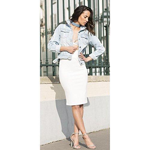 Ideal Shoes Sandales à Brides Effet Daim Helina Argent