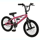 Zombie 45,7cm Sting BMX Bike–Fahrrad in Pink & Schwarz mit Gyro Bremsen (Mädchen)