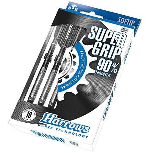 Fléchettes HARROWS nylon SUPERGRIP 90% TUNG 18 GR