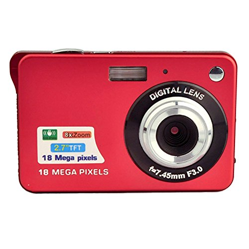 Stoga Dfun SC001 2.7 Zoll TFT LCD HD Mini Digitalkamera-Rot