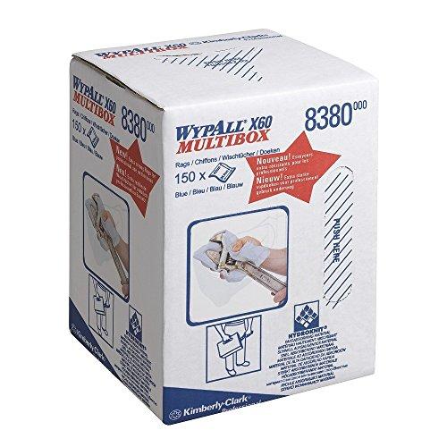 WypAll 8380 X60 Tücher, Großrolle 1-lagige, 1 Mittenzufuhrrolle x 150 Blatt, blau -