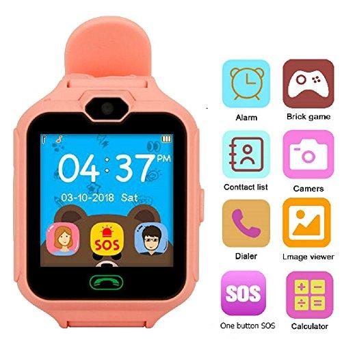 Hangang Kinder Smartwatch Smartwatch für Kinder mit Sim-Anrufe Anti-verlorene Call Kinder Tracker Schicke Geschenke für Jungen und Mädchen