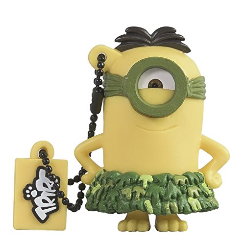 Tribe Minions Au Naturel USB Stick 8GB Speicherstick 2.0 High Speed Pendrive Memory Stick Flash Drive, Lustige Geschenke 3D Figur, USB Gadget aus Hart-PVC mit Schlüsselanhänger – Gelb
