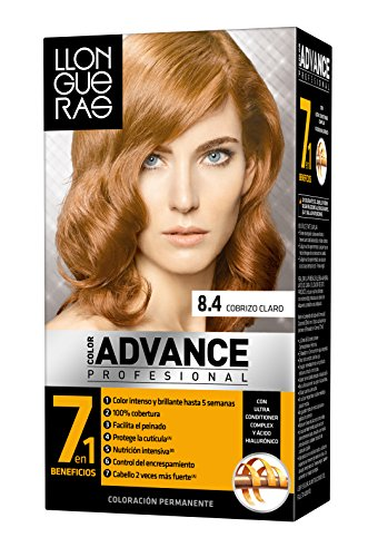 Llongueras Color Advance - Tinte, color 8,4-light copper, 200 gr
