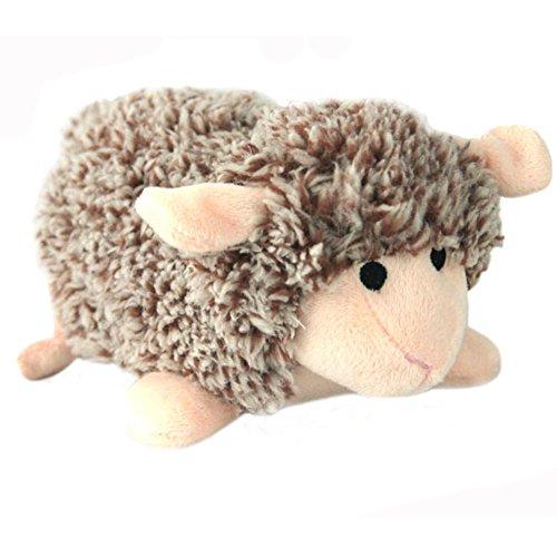 Yakef Quietschendes Hundespielzeug, Plüschtier in Igel- / Schaf-Form, geflochten, Spielzeug für Zahnreinigung