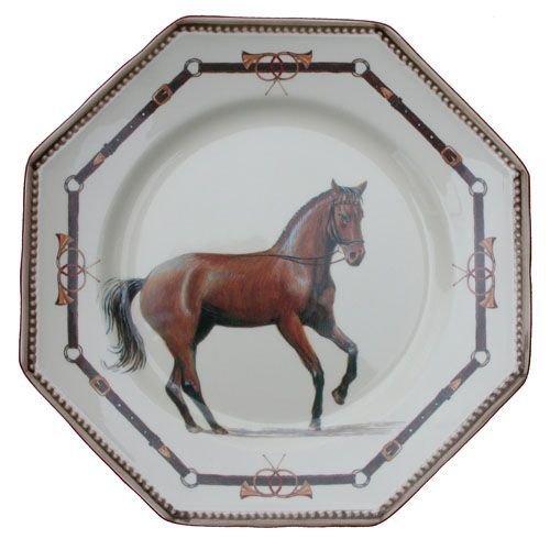 Faïencerie de Niderviller Assiette Plate Ronde Chantilly faïence - Lot de 4