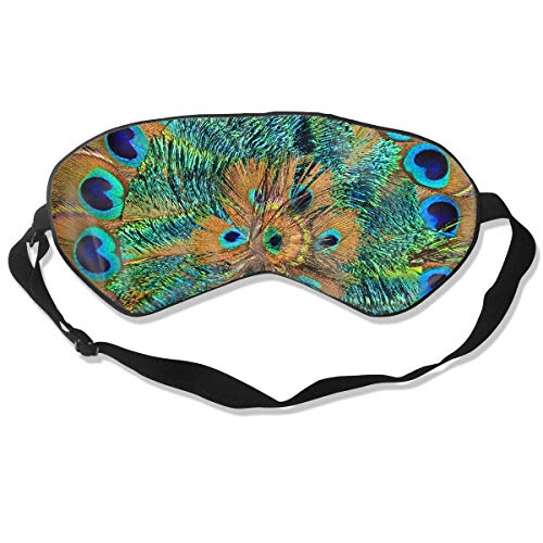 Peacock Print Seide (Augenmaske Peacock Print Schlafmaske verstellbar atmungsaktiv Schlafmaske Augenmaske)