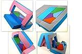Spielsofa 4in1 Kindersofa Spielmatraze für das Kinderzimmer Spielpolster Softsofa rosa