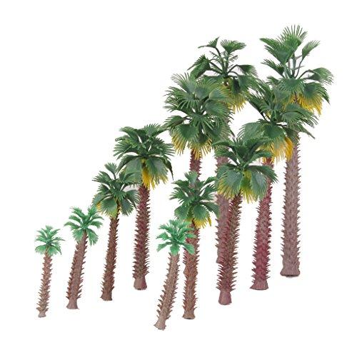 Preisvergleich Produktbild 12pcs 1:45-1:150 Landschaftsbau Palm Baum Bäume Modelleisenbahn