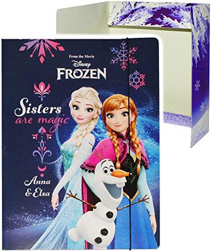 alles-meine.de GmbH Gummizugmappe / Ordner / Sammelmappe / Heftordner - für A4 -  Disney Frozen - die Eiskönigin  - für Hefte, Zeitschriften, Zeichnungen - Kinder Mädchen Junge..