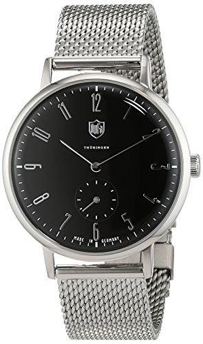 DuFa Unisex Analog Quarz Uhr mit Edelstahl Armband DF-9001-11