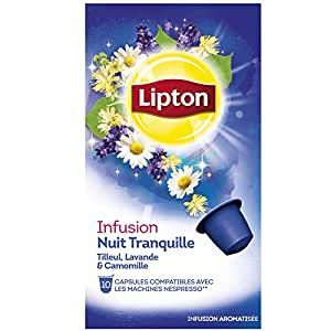 lipton infusion nuit tranquille 10 capsules compatibles nespresso 16 g amazon pantry. Black Bedroom Furniture Sets. Home Design Ideas