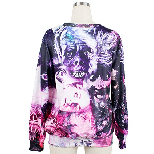 THENICE Femme manches longues Sweat-shirts Zombies