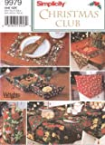 Simplicity Sewing Pattern 9979 Christmas Tablecloth, Table Runner, Place Mats, Napkins, Baskets & Bottle Bag by Christmas Club