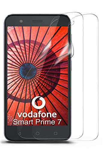 moex 2X Vodafone Smart Prime 7 | Schutzfolie Klar Bildschirm Schutz [Crystal-Clear] Screen Protector Display Handy-Folie Dünn Bildschirmschutz-Folie für Vodafone Smart Prime 7 Bildschirmfolie