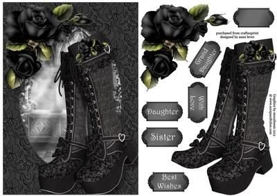 Beautiful botas-fabulously gótico A5por Anne palanca