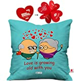 Best Anniversary Gifts For A Girlfriends - indibni Red Hearts Cute Throw Pillow Valentine love Review