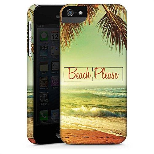 Apple iPhone 7 Hülle Tough Case Schutzhülle Beach Please Urlaub Strand Palmen Premium Case StandUp