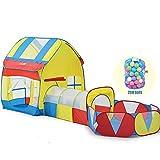 YGBH Kinderzelt Spielhaus, 3 in 1 Indoor Outdoor-Spiel Tabernacle und Tunnel, Umweltschutz Faltbare...
