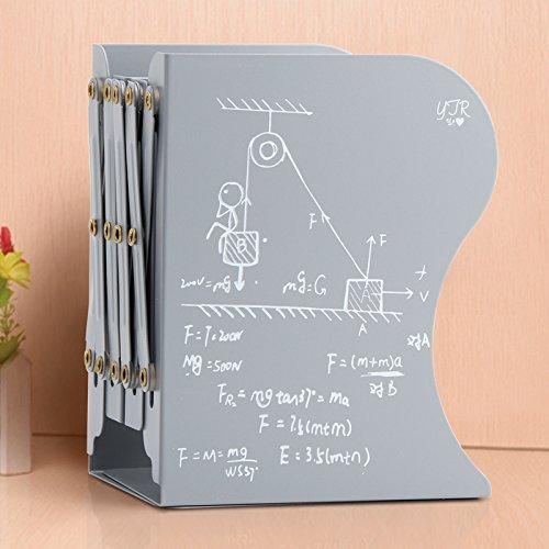 STJK$BMJW Life-Table Folding Bücherstütze Bügeleisen Storage Rack Clamp Einfach Einziehbares Bücherstütze Bücherregale Der Senior High School Kursteilnehmer Asche (Bücherregal Asche)