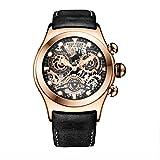 REEF TIGER Herren Uhr analog Quarzwerk mit Leder Armband RGA792-PBB