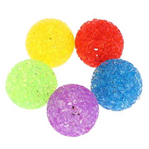 Autone 5Stück Katzen-Spielzeug Colorful Ball mit Glocke, Kunststoff, Kitten Interaktives Spielzeug für