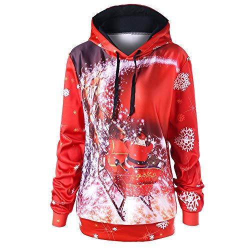 TWIFER Sweatshirt Damen Frohe Weihnachten Langarm Plus Size -