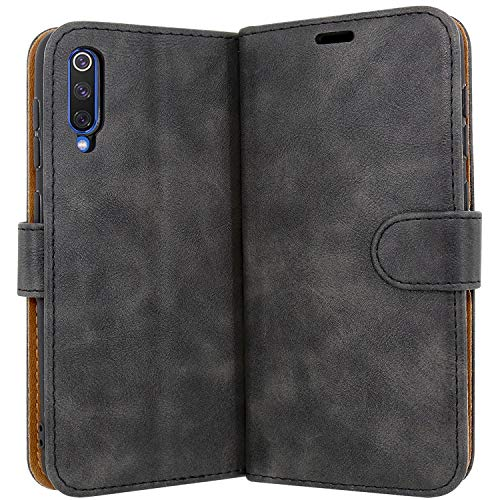 "Case Collection Case for Xiaomi Mi 9 SE Cover (5,97 "") in High Quality Leather Booklet with Credit Card Slot for Xiaomi Mi 9 SE Case"