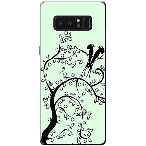 Paradiesvögel Silhouette - Pastellgelb Hartschalenhülle Telefonhülle zum Aufstecken für Apple iPhone 6 PLUS / 6s PLUS Pastellgrün