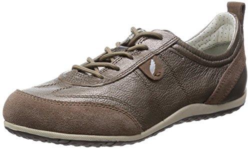 Geox Damen D VEGA A Sneakers, Braun (TAUPEC6029), 41 EU