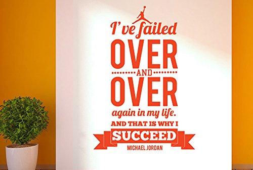 CUT IT OUT Michael Jordan Ive Failed über und das ist, Warum ich Succeed-Groß (Höhe 80cm x Breite 57cm) dunkelgrün