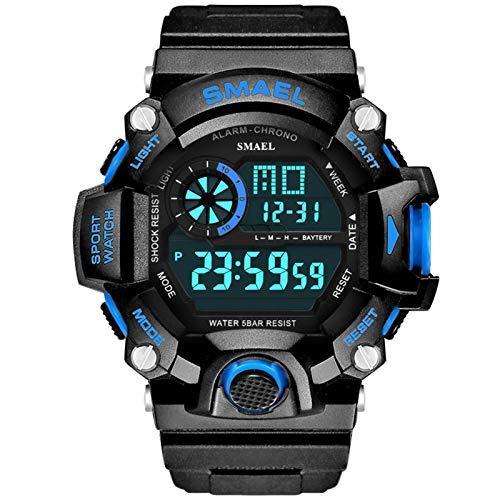 Adisaer Männer Uhren Wasserdicht Digitale Uhr Herrenuhr Schwarz Blau Outdoor Sportuhr Armbanduhr Automatikuhr