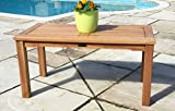Sustainable Furniture UK Ltd Solid Teak Rectangular Garden Coffee Table