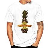 ♚Blusa de los Hombres, Camiseta de la Impresión de la Moda Camisetas de Impresión Camisa de Manga Corta Camiseta Blusa Absolute (S, Blanco H )