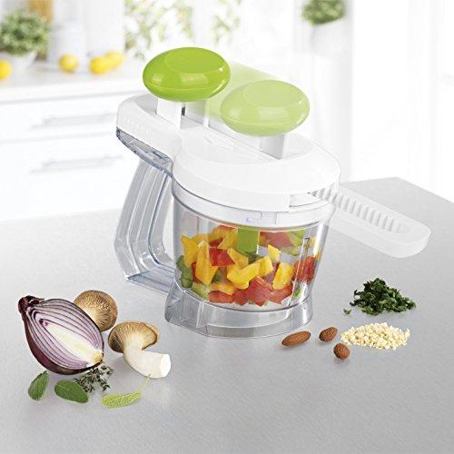 Gemüseschneider - handbetriebener Gemüse Häcksler ( Obst & Gemüse, Multi-Zerkleinerer, Universal-Zerkleinerer )