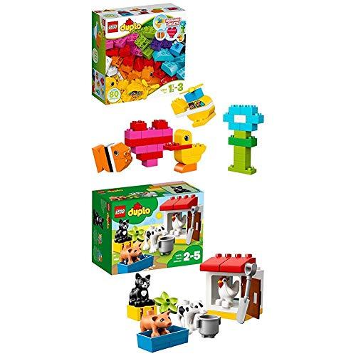 Lego Duplo 10848 - Meine ersten Bausteine + Tiere auf dem Bauernhof, Lernspielzeug