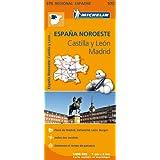 Carte Espagne Castille et Leon, Madrid Michelin