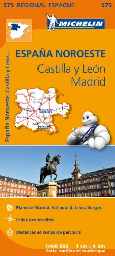 Carte Espagne Castille et Leon, Madrid Michelin par Collectif MICHELIN