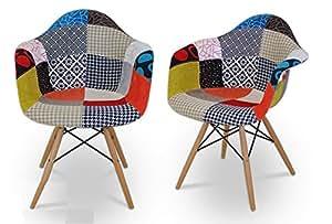Chaise eames DAW patchwork 80cm