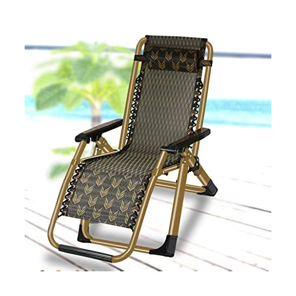 MRZZ Recliner Folding Lunch Break, Balcony Backrest Siesta Chair Leisure Home Portable Chair Old Man Beach Office Wicker Chair. (Color : Green)  Environmentally friendly and breathable fabric, cool and waterproof. Portable design, ready to use, small size does not occupy the ground, you can bring it in the trunk of the car! High-elastic latex rope, full of elastic feel, rope can be removed and replaced, durable. 2