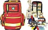 Erste Hilfe Notfallrucksack für Sportvereine & Freizeit - Nylonmaterial mit gelben Reflexstreifen